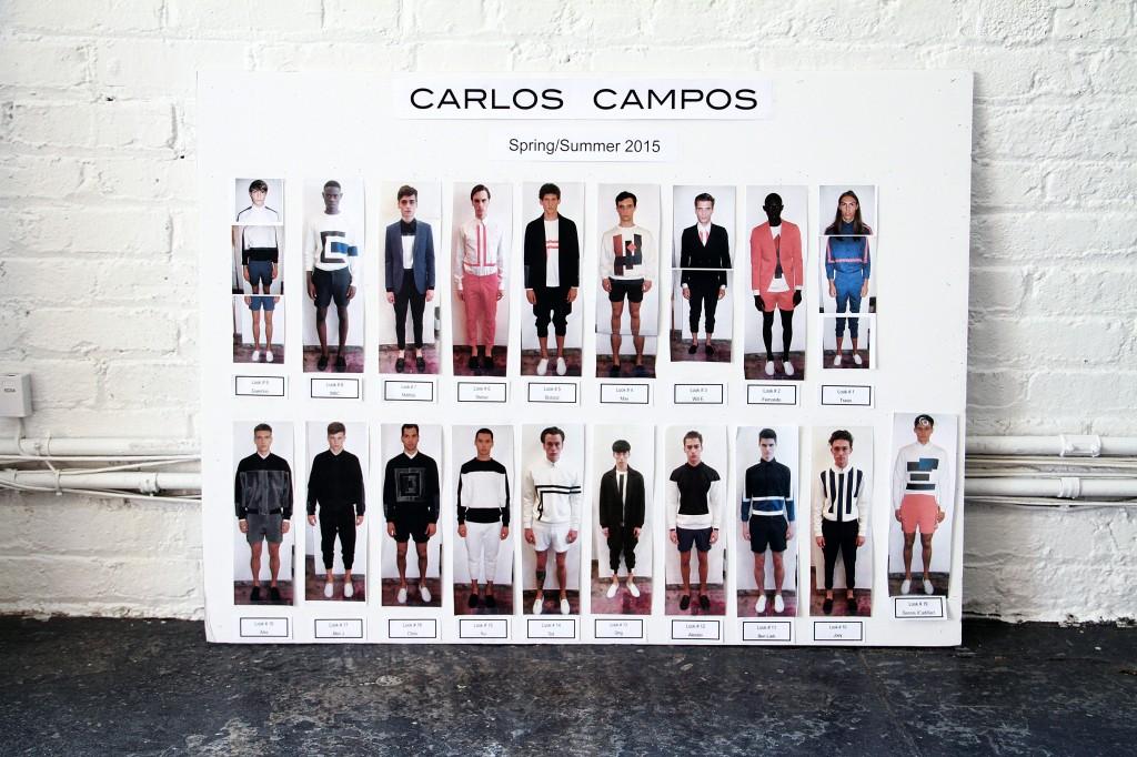 Carlos Campos SS15 Model Board