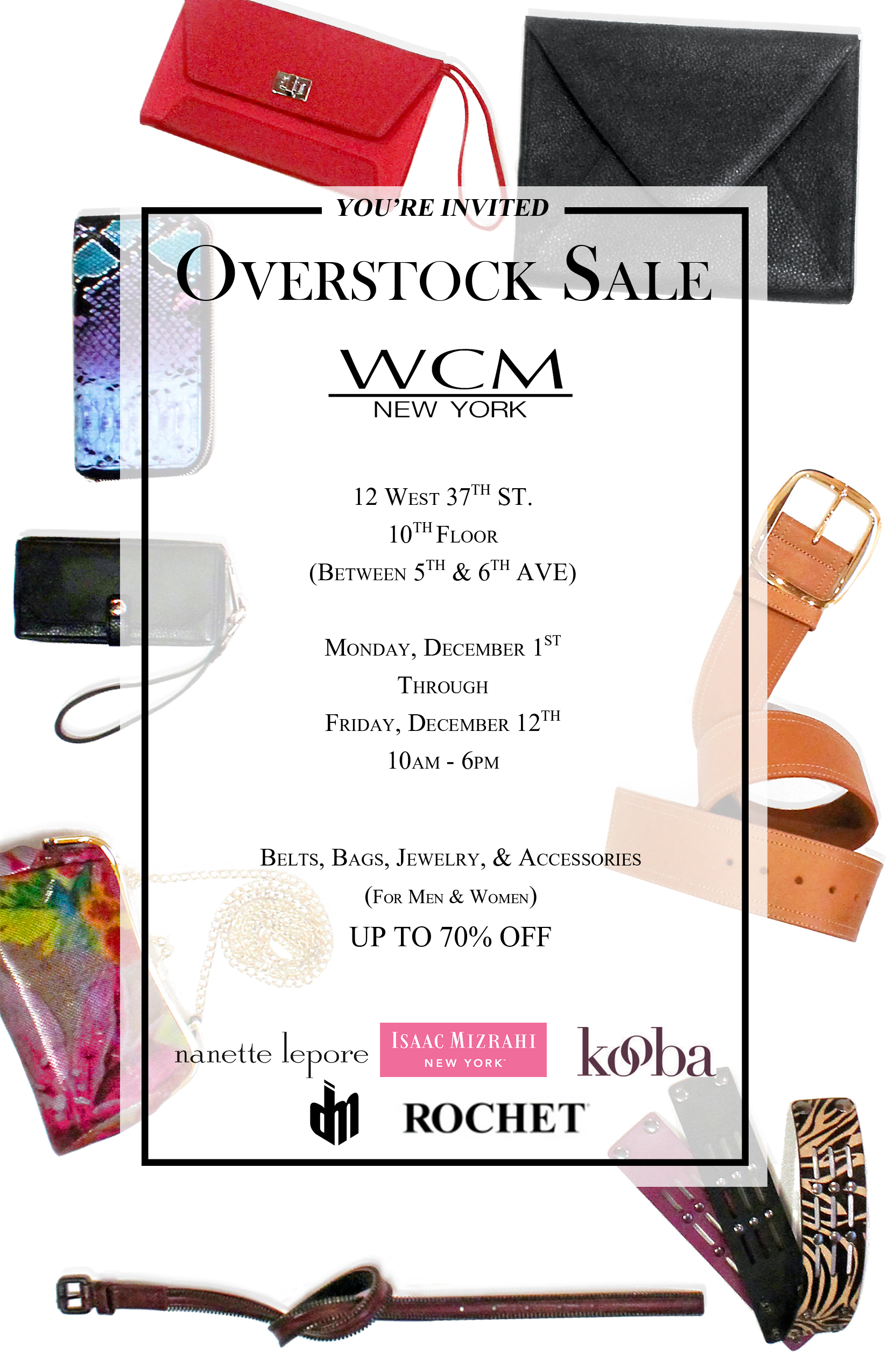 WCMs Overstock Blowout Sale