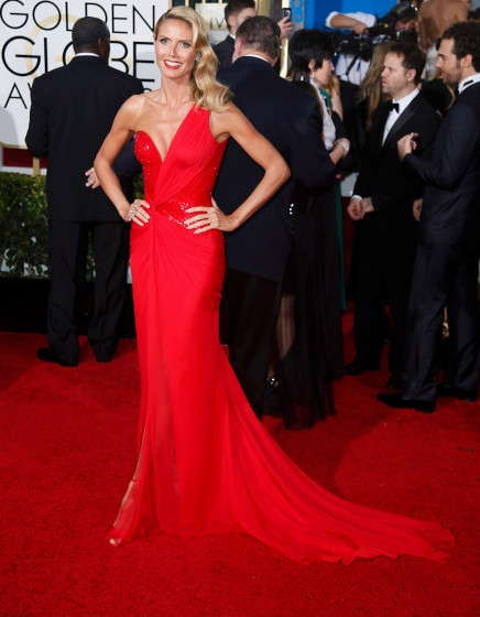Heidi Klum arrives at the 72nd Golden Globe Awards in Beverly Hills