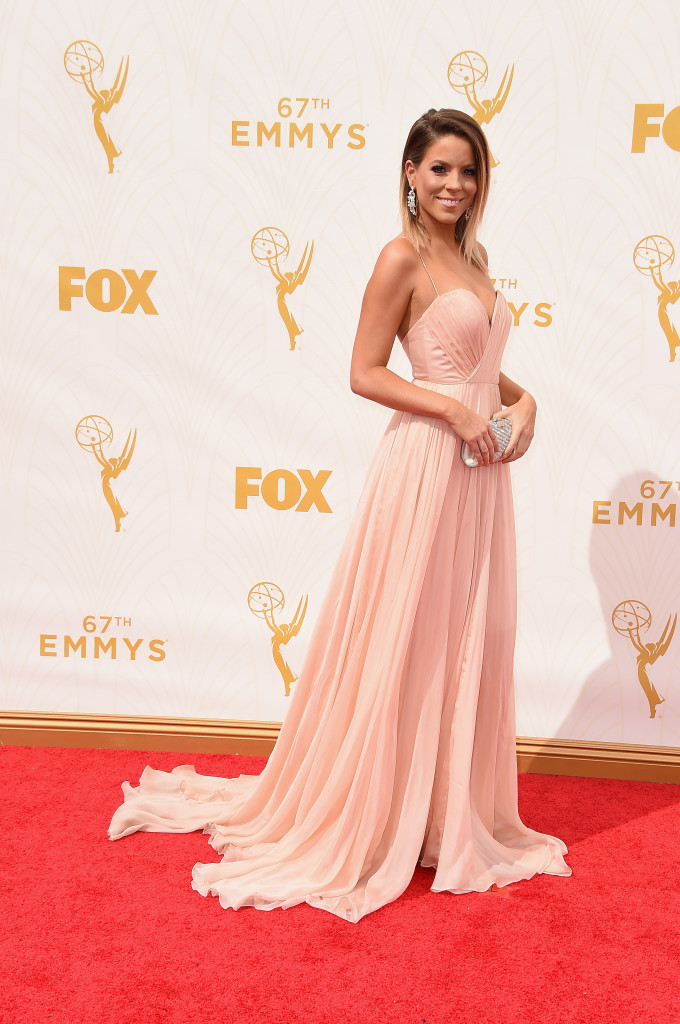 LOS ANGELES, CA - SEPTEMBER 20: TV personality Stephanie Bauer attends the 67th Annual Primetime Emmy Awards at Microsoft Theater on September 20, 2015 in Los Angeles, California. (Photo by Steve Granitz/WireImage)